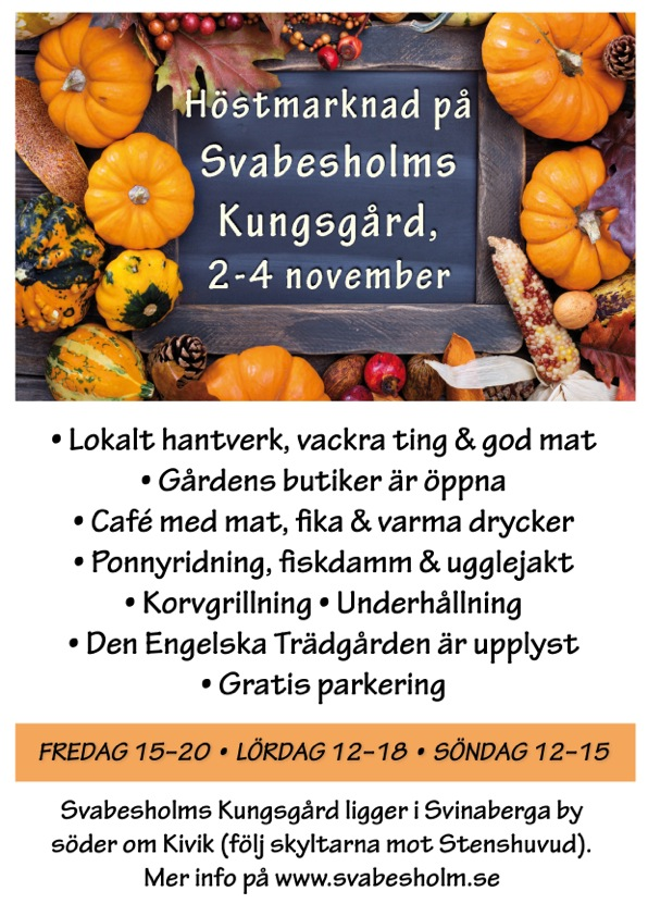 Höstmarknad M Programfest